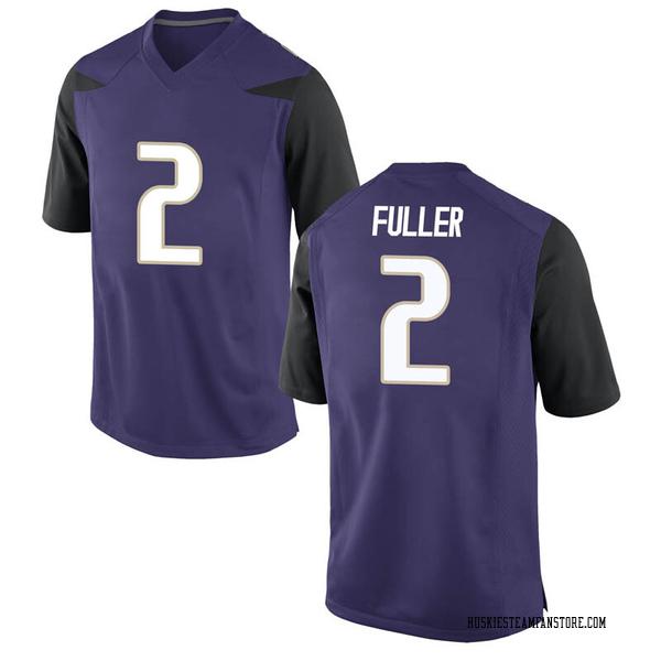 Men's Aaron Fuller Washington Huskies Nike Game Purple Football College Jersey