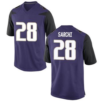 Men's Angelo Sarchi Washington Huskies Nike Game Purple Football College Jersey