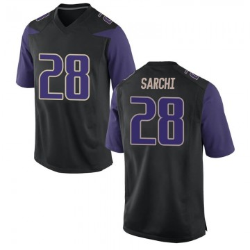 Men's Angelo Sarchi Washington Huskies Nike Replica Black Football College Jersey