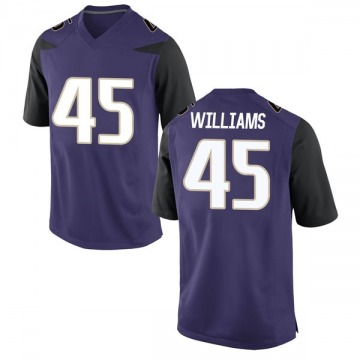 Men's Dylan Williams Washington Huskies Nike Game Purple Football College Jersey