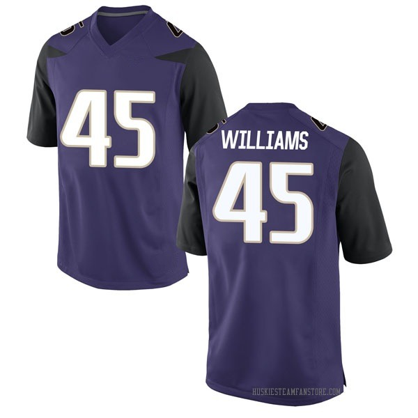 Men's Dylan Williams Washington Huskies Nike Replica Purple Football College Jersey
