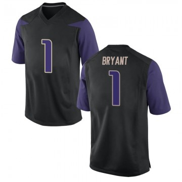 Men's Hunter Bryant Washington Huskies Nike Game Black Football College Jersey