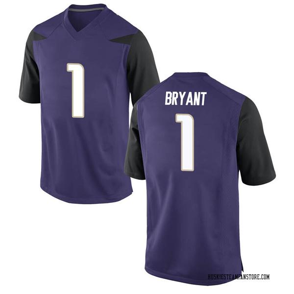 Men's Hunter Bryant Washington Huskies Nike Game Purple Football College Jersey