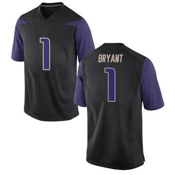 Men's Hunter Bryant Washington Huskies Nike Replica Black Football College Jersey