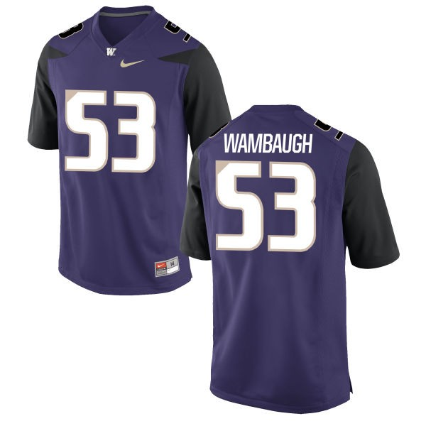 Men's Jake Wambaugh Washington Huskies Nike Replica Purple Football Jersey -
