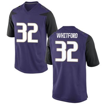 Men's Joel Whitford Washington Huskies Nike Game Purple Football College Jersey
