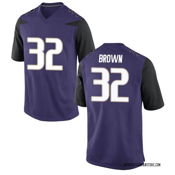 Men's Triston Brown Washington Huskies Nike Game Purple Football College Jersey