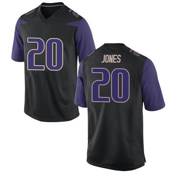 Men's Ty Jones Washington Huskies Nike Game Black Football College Jersey