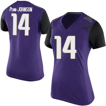 Women's Bryan Penn-Johnson Washington Huskies Nike Replica Purple Football College Jersey