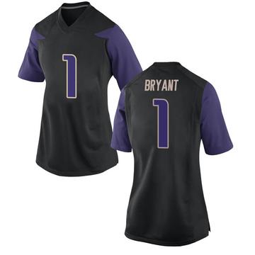 Women's Hunter Bryant Washington Huskies Nike Replica Black Football College Jersey