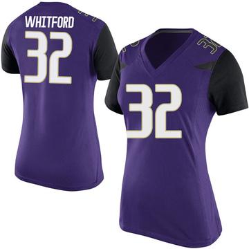 Women's Joel Whitford Washington Huskies Nike Replica Purple Football College Jersey