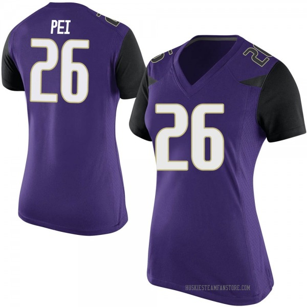 Women's Meki Pei Washington Huskies Nike Replica Purple Football College Jersey