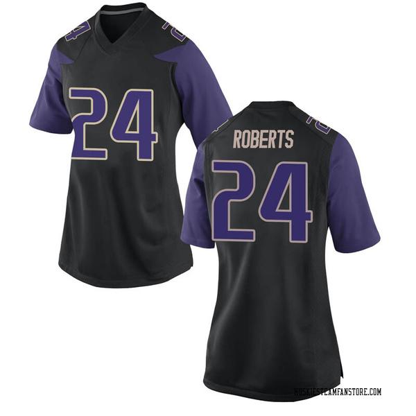 Women's Nate Roberts Washington Huskies Nike Game Black Football College Jersey