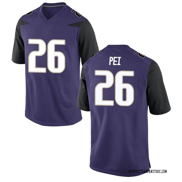 Youth Meki Pei Washington Huskies Nike Game Purple Football College Jersey