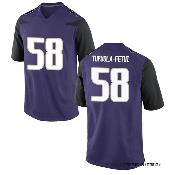 Youth Zion Tupuola-fetui Washington Huskies Nike Game Purple Football College Jersey